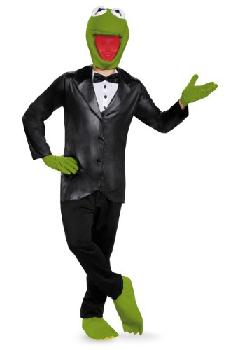 Click Here to buy Deluxe Kermit the Frog Adult Costume from HalloweenCostumes, CDN Funds & Shipping