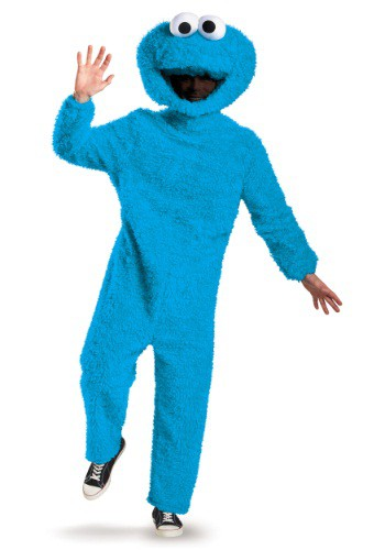 Click Here to buy Prestige Plus Size Cookie Monster Costume from HalloweenCostumes, CDN Funds & Shipping