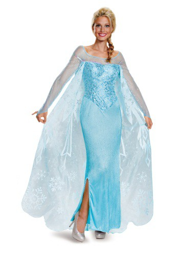 Click Here to buy Frozen Adult Elsa Prestige Costume from HalloweenCostumes, CDN Funds & Shipping