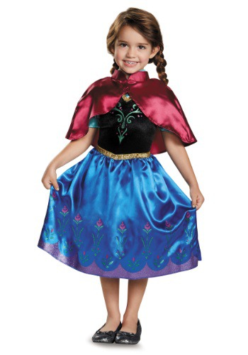 Click Here to buy Frozen Traveling Anna Classic Toddler Costume from HalloweenCostumes, CDN Funds & Shipping