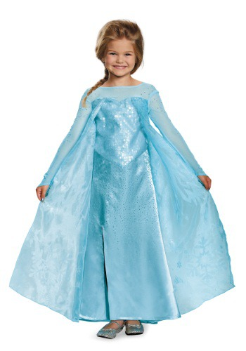 Click Here to buy Girls Frozen Elsa Ultra Prestige Costume from HalloweenCostumes, CDN Funds & Shipping