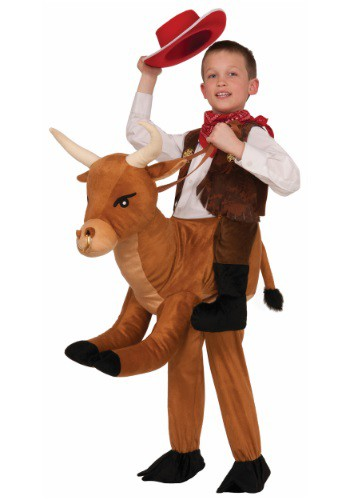 Click Here to buy Kids Ride A Bull Costume from HalloweenCostumes, CDN Funds & Shipping