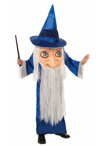 Click Here to buy Kids Big Face Wizard Costume from HalloweenCostumes, CDN Funds & Shipping