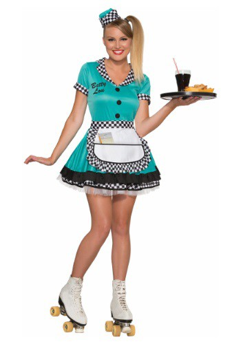 Click Here to buy Womens Betty Lou Carhop Costume from HalloweenCostumes, CDN Funds & Shipping