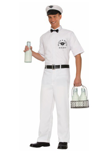 Click Here to buy Mens Vintage Milkman Costume from HalloweenCostumes, CDN Funds & Shipping