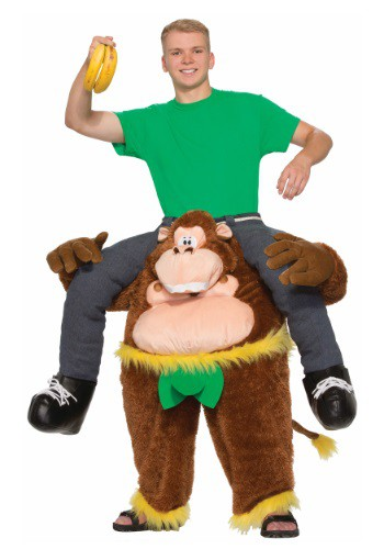 Click Here to buy Adult Ride On Monkey Costume from HalloweenCostumes, CDN Funds & Shipping