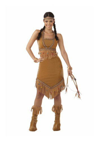 Click Here to buy Womens Native American Cutie Costume from HalloweenCostumes, CDN Funds & Shipping