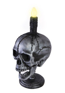 Light Up Skull And Candle