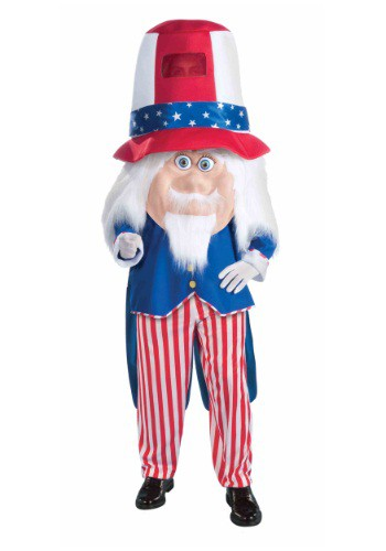 Click Here to buy Adult Uncle Sam Parade Mascot Costume from HalloweenCostumes, CDN Funds & Shipping