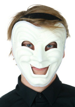 Adult White Comedy Mask