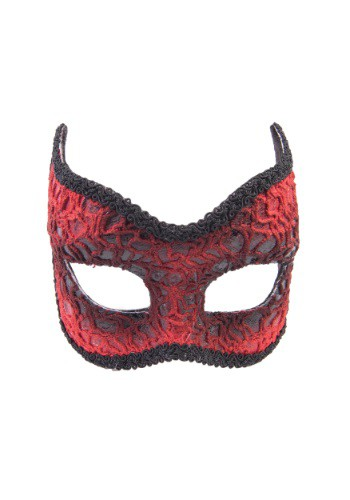 Click Here to buy Adult Red Lace Devil Mask from HalloweenCostumes, CDN Funds & Shipping