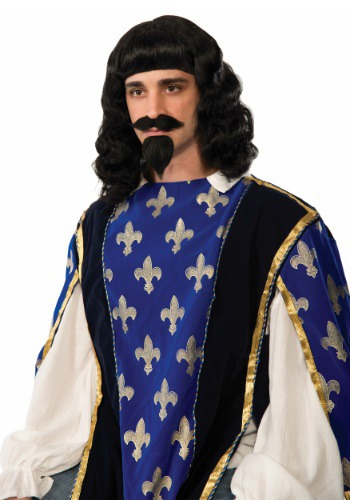 Click Here to buy Adult Musketeer Wig & Goatee Set from HalloweenCostumes, CDN Funds & Shipping