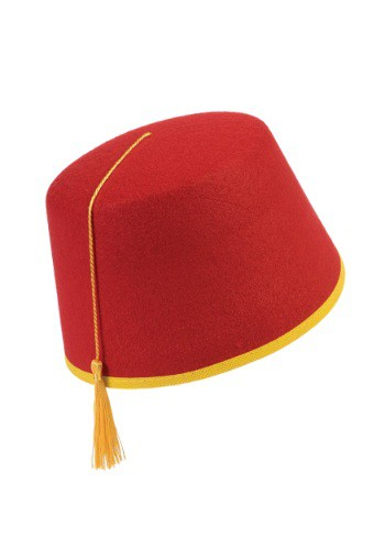 Click Here to buy Adult Red Fez Hat from HalloweenCostumes, CDN Funds & Shipping