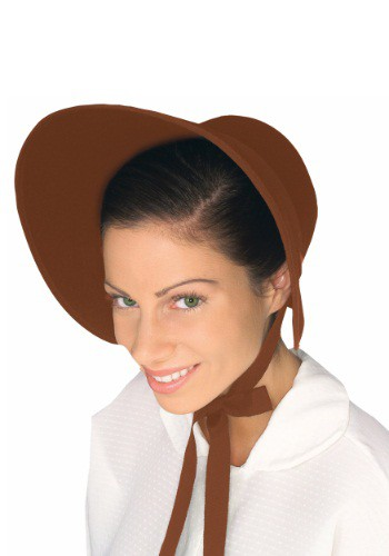 Womens Brown Felt Bonnet