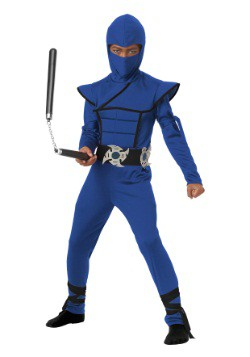 Child Blue Stealth Ninja Costume