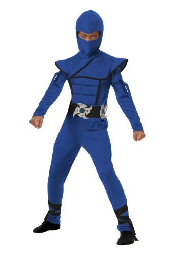 Click Here to buy Kids Blue Stealth Ninja Costume from HalloweenCostumes, CDN Funds & Shipping