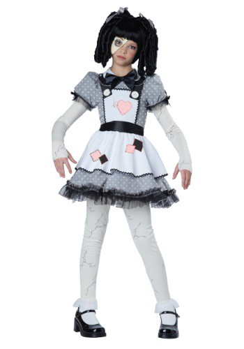 Click Here to buy Girls Haunted Doll Costume from HalloweenCostumes, CDN Funds & Shipping