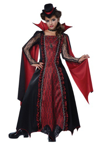 Click Here to buy Girls Victorian Vampira Costume from HalloweenCostumes, CDN Funds & Shipping