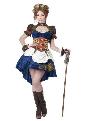 Click Here to buy Womens Plus Size Steampunk Fantasy Costume from HalloweenCostumes, CDN Funds & Shipping