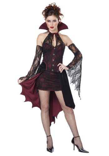 Click Here to buy Womens Plus Size Vampire Vixen Costume from HalloweenCostumes, CDN Funds & Shipping