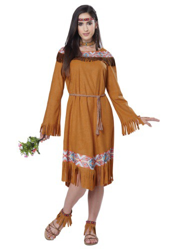 Click Here to buy Classic Native American Maiden Womens Costume from HalloweenCostumes, CDN Funds
