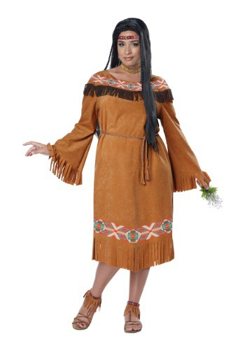 Classic Native American Maiden Plus Size Costume for Women
