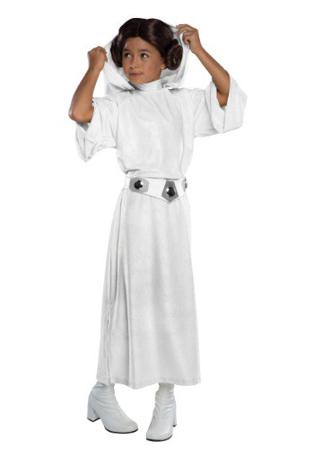 Click Here to buy Deluxe Kids Princess Leia Costume from HalloweenCostumes, CDN Funds & Shipping
