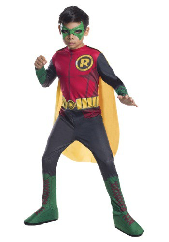 Click Here to buy DC Comics Kids Robin Costume from HalloweenCostumes, CDN Funds & Shipping