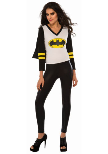 Womens Batgirl Sporty Tee w/ Cape Costume