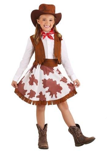 Click Here to buy Girls Sweetheart Cowgirl Costume from HalloweenCostumes, CDN Funds & Shipping
