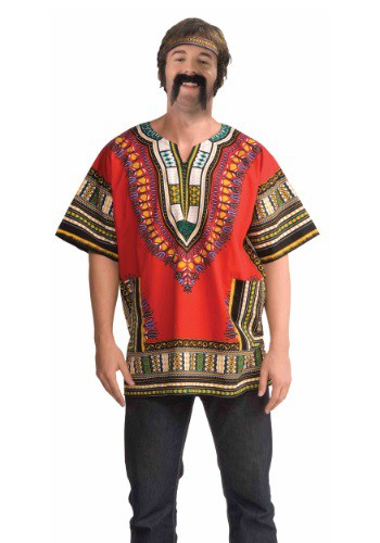 Adult Red Dashiki Shirt