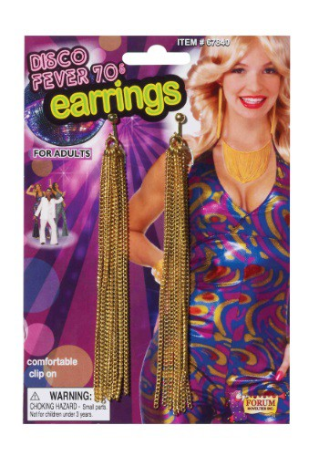 Gold Chain Disco Earrings
