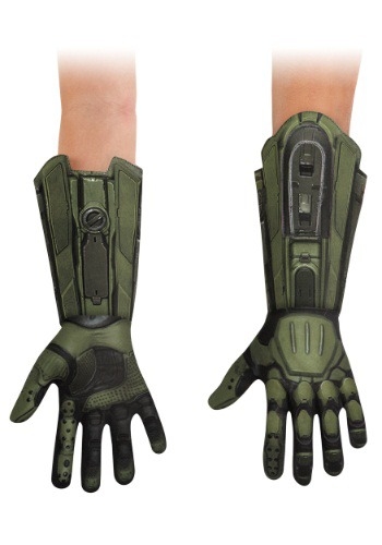 Click Here to buy Master Chief Deluxe Kids Gloves from HalloweenCostumes, CDN Funds & Shipping