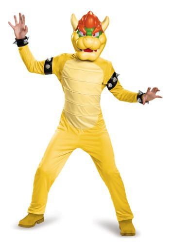 Click Here to buy Bowser Deluxe Boys Costume from HalloweenCostumes, CDN Funds & Shipping