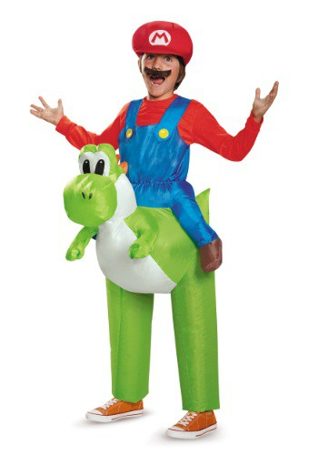 Click Here to buy Mario Riding Yoshi Kids Costume from HalloweenCostumes, CDN Funds & Shipping