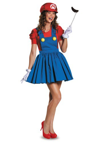 Click Here to buy Womens Mario Skirt Costume from HalloweenCostumes, CDN Funds & Shipping