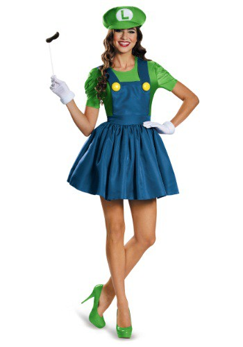 Click Here to buy Womens Luigi Dress Costume from HalloweenCostumes, CDN Funds & Shipping