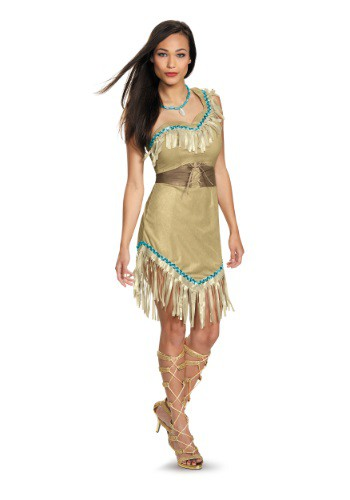 Click Here to buy Womens Deluxe Pocahontas Costume from HalloweenCostumes, CDN Funds & Shipping