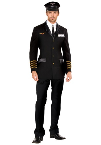 Click Here to buy Mens Mile High Pilot Costume from HalloweenCostumes, CDN Funds & Shipping