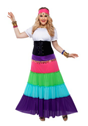 Click Here to buy Womens Plus Size Renaissance Gypsy Costume from HalloweenCostumes, CDN Funds & Shipping