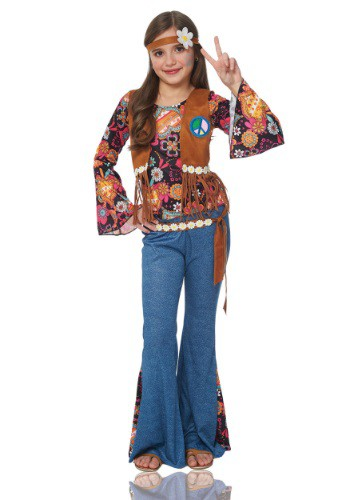 Click Here to buy Girls Peace Out Hippie Costume from HalloweenCostumes, CDN Funds & Shipping