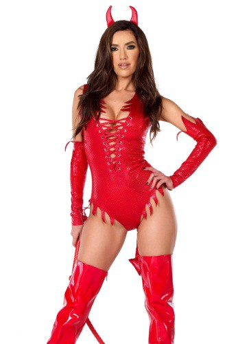 Click Here to buy Womens Sizzle N Shine Devil Costume from HalloweenCostumes, CDN Funds & Shipping
