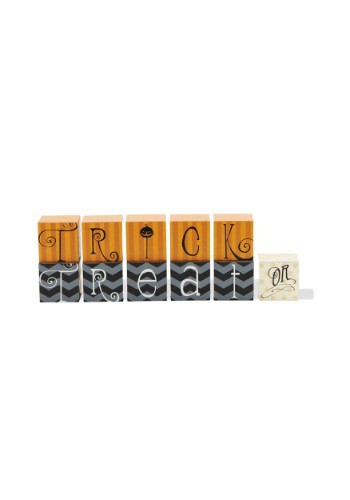 Orange and Black Trick of Treat Blocks
