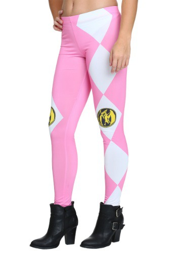 Click Here to buy Womens Power Rangers Pink Ranger Leggings from HalloweenCostumes, CDN Funds & Shipping