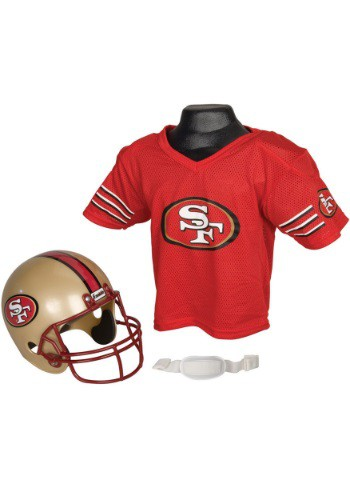 Child NFL San Francisco 49ers Helmet and Jersey Set