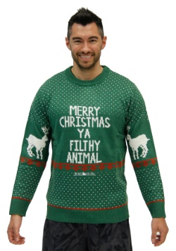 Plus Size Home Alone Green Merry Christmas Ya Filthy Animal