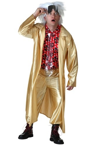 Plus Size Back to the Future II Doc Brown Costume 2X