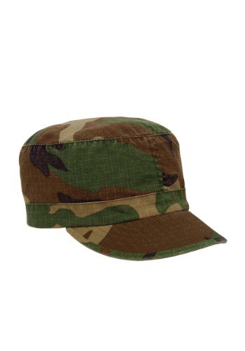 Womens Woodland Camouflage Fatigue Hat
