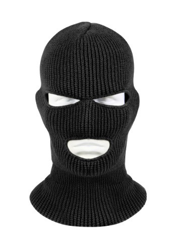 Adult Black 3-Hole Facemask