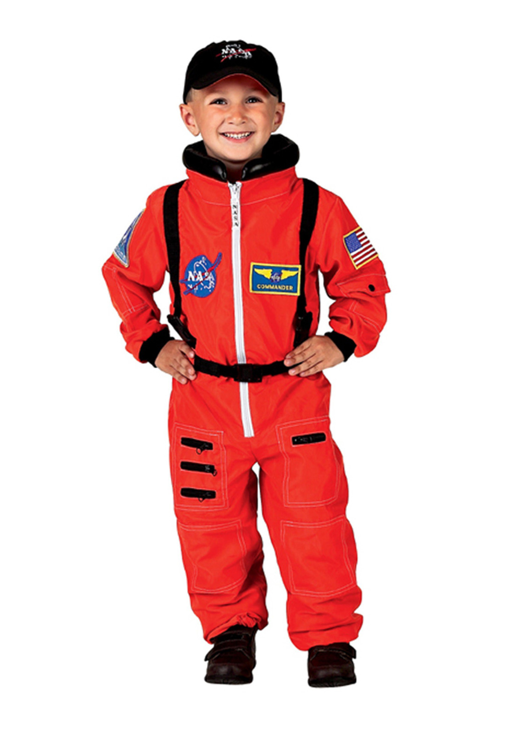 INOpets.com Anything for Pets Parents & Their Pets Child Orange Astronaut Costume